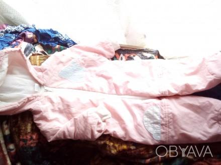 Комбинезончик светло-розового цвета, мягкий и теплий. С капюшоном без брака. Чернигов, Черниговская область. фото 1