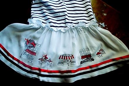Платье – матроска нарядное на 5-6 лет , 100% хлопок, штапель, со змейкой сбоку, . Киев, Киевская область. фото 5