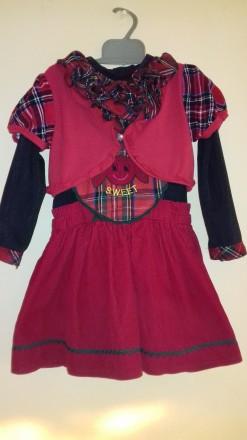 Плаття-трійка для дівчинки 2 рочки. Калуш. фото 1