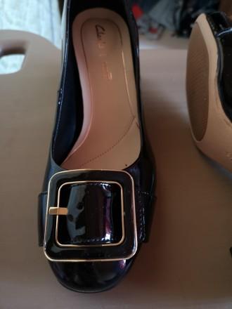 Лаковые кожаные туфли Clarks. Киев. фото 1