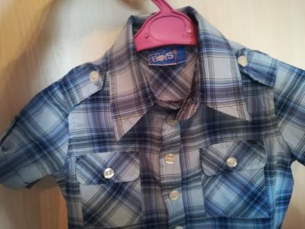Рубашка 18-24м. Першотравенск. фото 1
