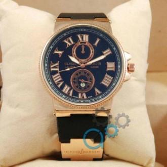 Мужские наручные часы (копия) Ulysse Nardin quartz Gold/Black. Днепр. фото 1