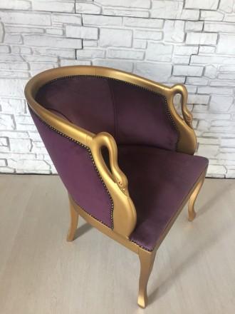 Дамское мягкое кресло в стиле барокко Италия. Днепр. фото 1