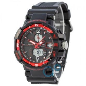 Мужские наручные часы (копия) Casio G-Shock 1100SH Black-Red. Днепр. фото 1