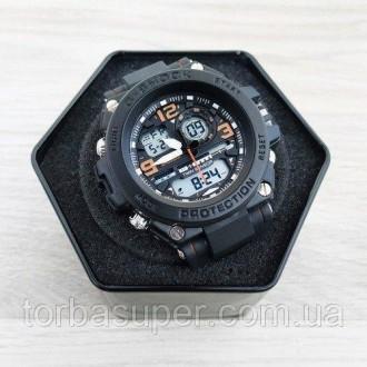 Мужские спортивные часы (копия) Casio G-Shock GST-1000 Black-Orange. Днепр. фото 1