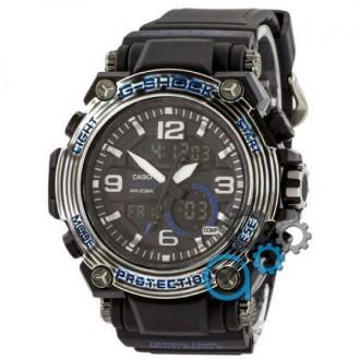 Мужские наручные часы (копия) Casio G-Shock MRG-500 Black-Blue. Днепр. фото 1