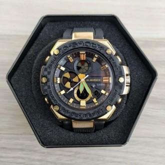 Мужские спортивные часы (копия) Casio GST-B100 Black-Gold-Black New. Днепр. фото 1