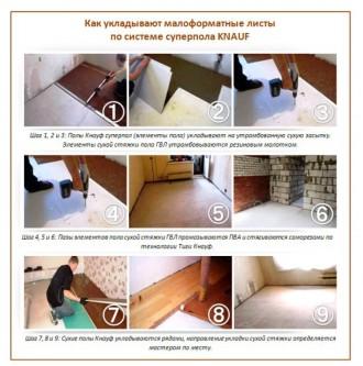 Сухие сборные полы – один из наиболее практичных и удобных вариантов устройства . Киев, Киевская область. фото 6