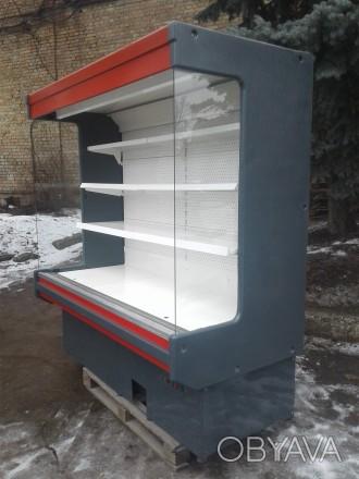 Холодильная горка Byfuch 2 м. б/у, холодильный регал б у