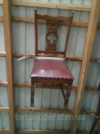 Комплект стол (прямоугольный, раздвижной) и стулья (6 шт) из Европы. Мебель бу и. Днепр. фото 1