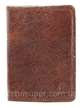 Обложка на паспорт GRANDE PELLE 00231 кожа Коричневая, Коричневый. Днепр. фото 1