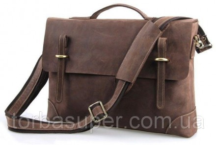 Портфель Vintage 14441 в винтажном стиле Коричневый, Коричневый. Днепр. фото 1