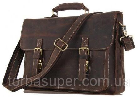 Портфель Vintage 14246 в винтажном стиле Коричневый, Коричневый. Днепр. фото 1