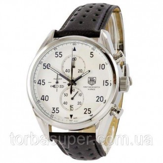 Мужские наручные часы (копия) Tag Heuer Carrera 1887 SpaceX Chronograph Black-Si. Днепр. фото 1