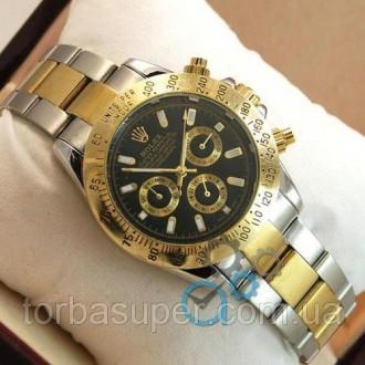 Мужские наручные часы (копия) Rolex Daytona Men Silver/Gold/Black. Днепр. фото 1