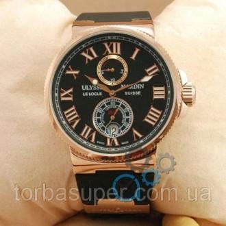 Мужские наручные часы (копия) Ulysse Nardin Maxi Marine AAA Black/Gold. Днепр. фото 1