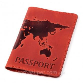 Обложка на паспорт Shvigel 13920 кожаная Красная, Красный. Днепр. фото 1