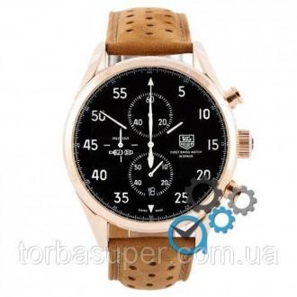Мужские наручные часы (копия) TAG Heuer Carrera 1887 SpaceX Chronograph Gold-Bla. Днепр. фото 1