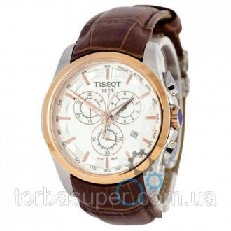 Мужские наручные часы (копия) Tissot T-Classic Couturier Chronograph Brown-Gold-. Днепр. фото 1