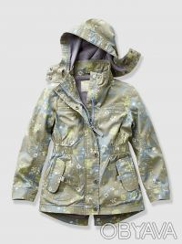 Куртка-парка для девочки (писк сезона рисунок в мелкий цветочек):  - размер на . Київ, Київська область. фото 2