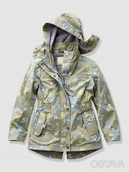 Куртка-парка для девочки (писк сезона рисунок в мелкий цветочек):  - размер на . Київ, Київська область. фото 1