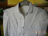 Блузка школьная для девочки на 152 см (Польша) Есть дефект сбоку (немного разошл. Киев, Киевская область. фото 2