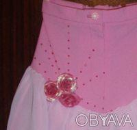Розовая нарядная юбка для девочки, рост 98, длина по спинке см, состав ткани: 10. Киев, Киевская область. фото 3
