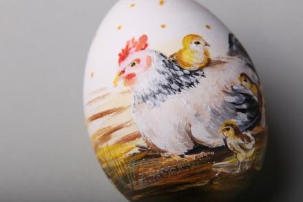 Авторські писанки ручної роботи. Яйце розписане акрилом і декороване намистинами. Тернополь, Тернопольская область. фото 3