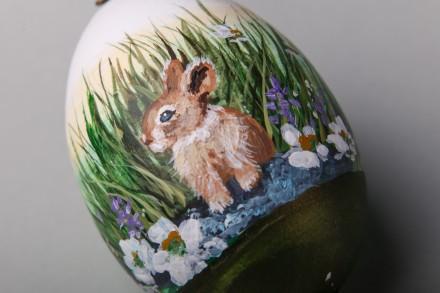 Великодня писанка Кролик на галявині. Тернополь. фото 1