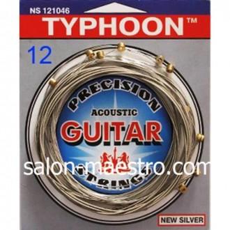 Струны для акустической 12-ти струнной Гитары TYPHOON. Чернигов. фото 1