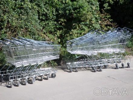 Тележки для супермаркетов, покупательские тележки, торговые телеги.