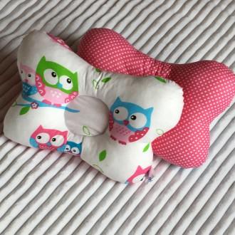Ортопедична подушка-метелик для новонароджених. Бурштын. фото 1