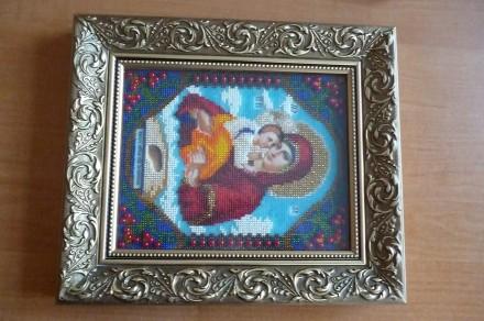 Икона Божией Матери Почаевская из бисера. Житомир. фото 1