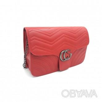 Маленькая стеганная сумка GG Marmont - является репликой известного итальянского. Запорожье, Запорожская область. фото 1