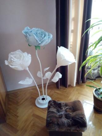 Квіти на підставці, у підставці по 3 квітки. Гарне доповнення до спальні або зал. Галич, Ивано-Франковская область. фото 5