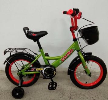 """Детский двухколесный велосипед Corso 14"""" предназначен для юных велосипедистов! . Киев, Киевская область. фото 3"""