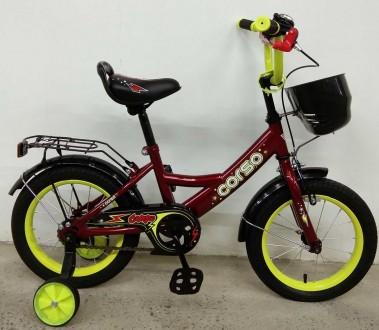"""Детский двухколесный велосипед Corso 14"""" предназначен для юных велосипедистов! . Киев, Киевская область. фото 5"""