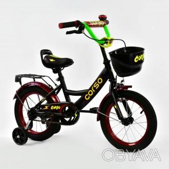"""Детский двухколесный велосипед Corso 14"""" предназначен для юных велосипедистов! . Киев, Киевская область. фото 1"""