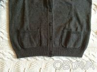 Новая кофточка серого цвета для девочки фирмы H&M на 6-8 лет, 100 % хлопок, отли. Київ, Київська область. фото 5