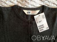 Новая кофточка серого цвета для девочки фирмы H&M на 6-8 лет, 100 % хлопок, отли. Київ, Київська область. фото 3