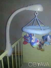 Музыкальная подвеска-мобиль-игрушка на кроватку Кролики, Chiccо. Кривой Рог. фото 1