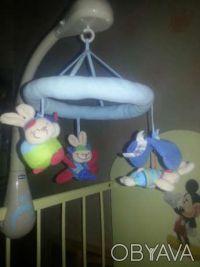 Музыкальная подвеска-мобиль-игрушка Кролики, Chicco (Чико) - оригинальная игрушк. Кривой Рог, Днепропетровская область. фото 3