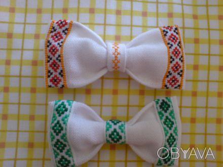 Продам бабочки для мальчиков ручной работы. Есть оформлены ручной вышивкой и уже. Киев, Киевская область. фото 1