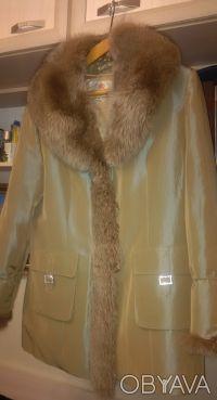 Куртка-трансформер женская с песцовым воротником и рукавами. Киев. фото 1