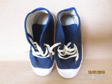 Дитяче взуття різне нове, високоякісне: 1. Кеди (сланці) дитячі темно сині, роз. Тернополь, Тернопольская область. фото 1