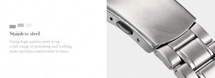 Механизм кварцевый Материал задней крышки нержавеющая сталь Ремешок 19 см Циферб. Запорожье, Запорожская область. фото 3