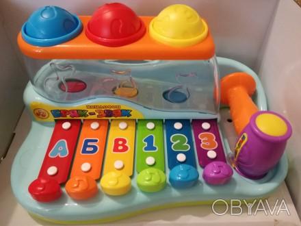 Ксилофон детский, можно использовать для изучения цветов, букв, цифр . Больше фо. Чернигов, Черниговская область. фото 1