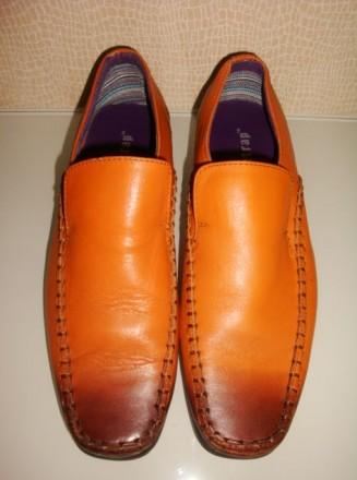 Модные стильные туфли мальчику 100% натуральная кожа Firetrap Англия разм. 35-35. Харьков. фото 1