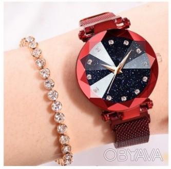 Часы женские Starry Sky Watch с магнитным ремешком водонепраницаемые