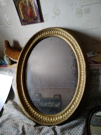 Старинное дореволюционное зеркало. Одесса. фото 1